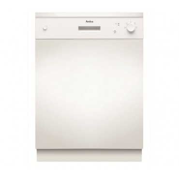 AMICA ZZV634W A++ Rated Semi-integrated Full-size Dishwasher - White
