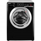 Hoover DXOA410C3B A+++ 10kg 1400rpm Washing Machine with One Touch - Black and Chrome
