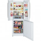 Hotpoint Trio FFU3DW A+ Rated American Style Frost Free Fridge Freezer - Gloss White
